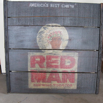 Red Man sign - Tobacciana