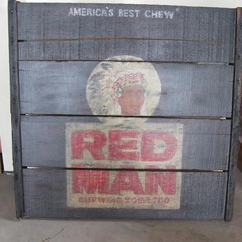 Red Man sign - Tobacciana