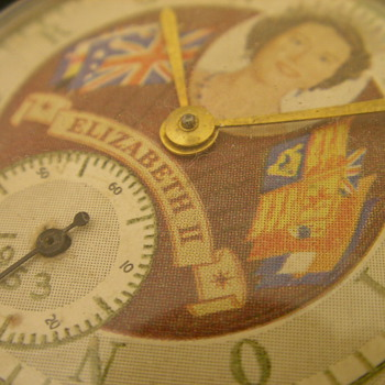 1953 Queen Elizabeth II Coronation Pocket Watch - No. 1 - Pocket Watches