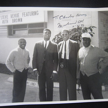 1964 Original Muhammad Ali Cassius Clay Malcolm X Greg Eaton Miami FL Autographed Photo - Photographs