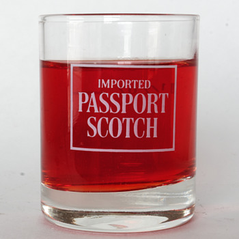 Passport Scotch Measuring Glass….  - Advertising