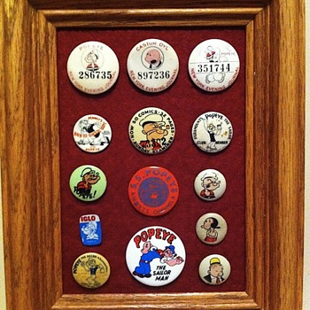Popeye favourite pinbacks - Medals Pins and Badges