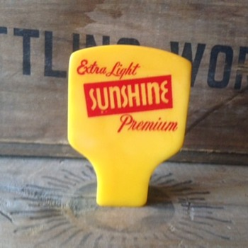 Yellow Sunshine Beer Tap - Breweriana