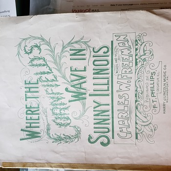 Old sheet music - Music Memorabilia