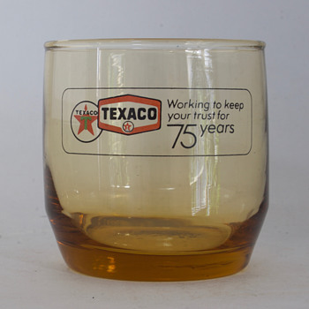 1977 Texaco 75th Anniversary Rocks Glass - Petroliana
