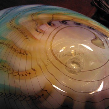 Hand Blown Glass Bowl  - Art Glass