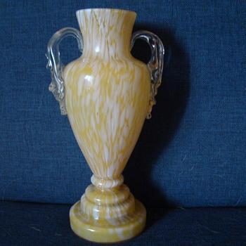 Bohemian spatter trophy vase - Art Glass