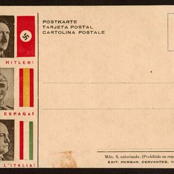 Hitler / Franco / Mussolini - Fascism Postcard - Postcards