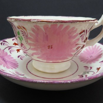 Sunderland Lustre Ware Cup and Saucer - China and Dinnerware