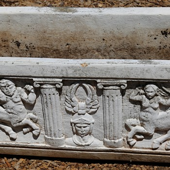 Griffin and Centaur Coffin Planter