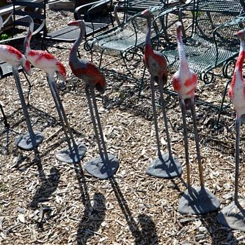 Six Metal Garden Cranes - Animals