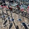 Six Metal Garden Cranes