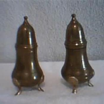 Premitive Vintage Salt & Pepper Skakers .
