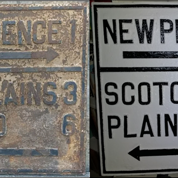 Restoration of my 1920s Union County NJ Guide Sign - Signs