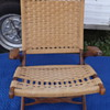 Mid Century Modern Rope Woven Chair Fold up with Arms