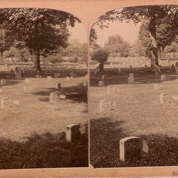 Arlington Cemetery Stereoview - Photographs
