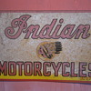 Original Circa 1940 One Sided Indian Motorcycles Sign