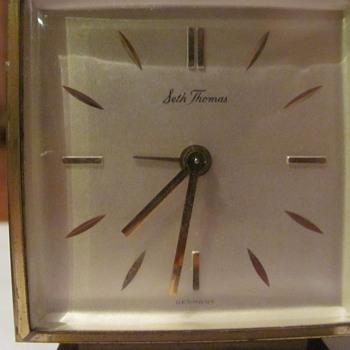 Seth Thomas brass Alarm Clock.