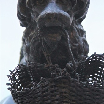 Iron Dog With Basket Toothpick Holder Wilpen Hall - Animals