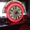 "Electric Neon Clock ""Royal Crown Cola"" theme made in Cleveland, Ohio"