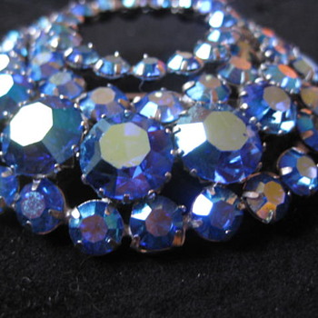 """SHERMAN """"CIRCLE OF GLIMMERING BLUE """"  - Costume Jewelry"""