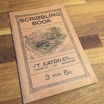 The T. EATON Co. Limited, Toronto 1901 Scribbler Book - Books