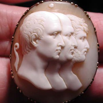 Men of Rome cameo - Victorian Era