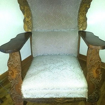 Raised Artwork Rocking Chair