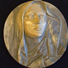 Large Bronze Plaque of  MARY WITH TEARS
