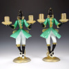 PAIR OF MURANO BLACKAMOOR CANDLE HOLDERS