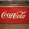 Antique coca cola ice chest