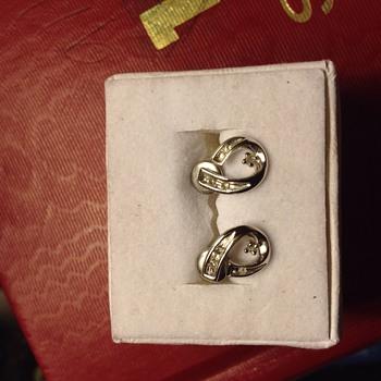 10k White Gold Diamond Earrings - Fine Jewelry