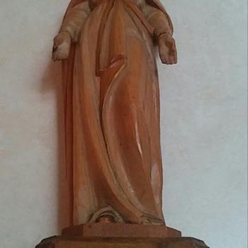 Vintage Anri Carved Madonna Figurine - Figurines