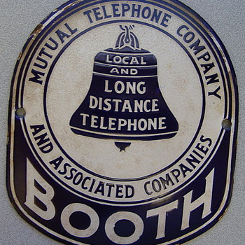 Mutual Telephone Company and Associated Companies Booth Sign - Signs