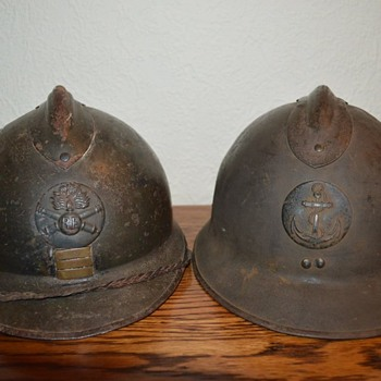 Helmets brought back from France, Dunkirk WW2 !! - Military and Wartime
