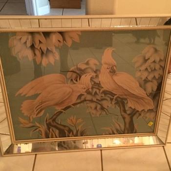 Large mirrored Turner Bird Print