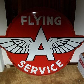 vintage flying A sign - Petroliana