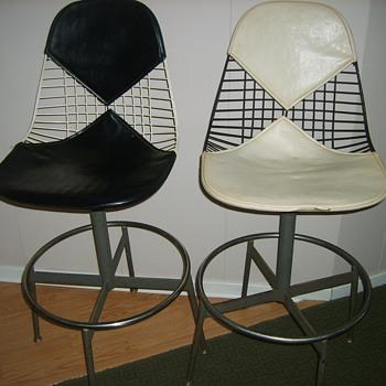 2 origiinal Herman Miller Bikini Leather Drafting Chairs - Furniture