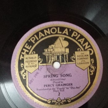 Pianola demonstration record - Records