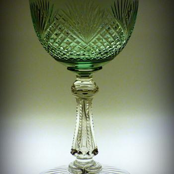 Cut Glass Uranium Wine Goblet? - Glassware
