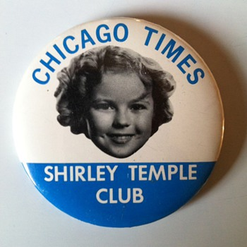 Shirley Temple Pinback - Advertising