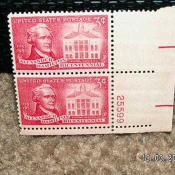 1957 Alexander Hamilton Bicentennial 3¢ Stamps
