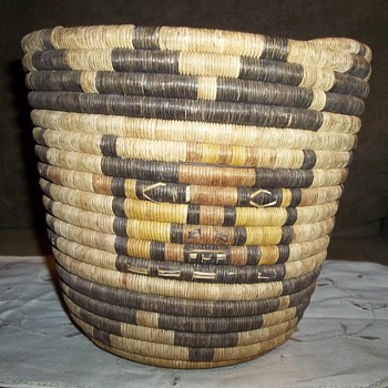 Native American Hopi Coiled Kachina Basket - Native American