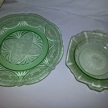 Green Depression Glass - Glassware