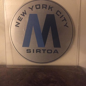 "1970s New York City Metropolitan Transit Authority ""M"" decal - Signs"