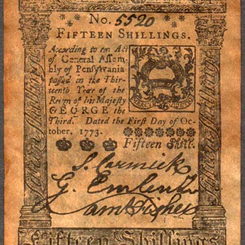 Colonial Currency - Novelty Note (Pennsylvannia) - US Paper Money