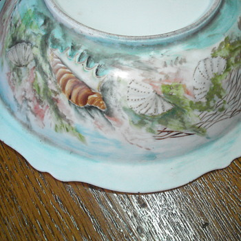 Art nouveau hand paintedOscar and Edgar Gutherz bowl - Art Nouveau
