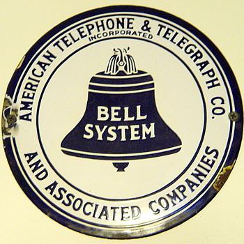 """American Telephone & Telegraph 8"""" Hubcap - Signs"""