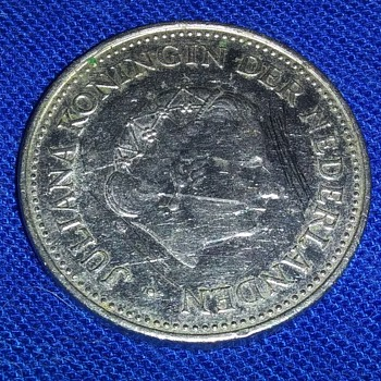 THE NETHERLANDS ONE GUILDER COIN - Silver