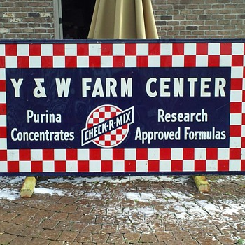 Old 8' x 4' Purina feed store sign